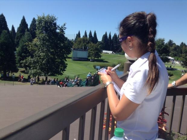 Covering the LPGA Safeway Classic in Portland.