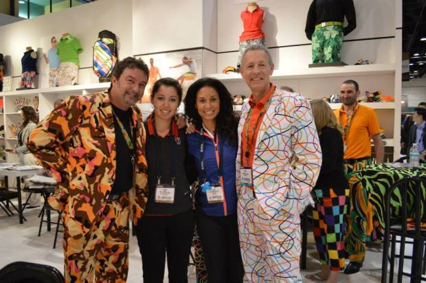 With NW Golf Show host Shon Crewe and Loudmouth Golf founders, Larry and Woody.