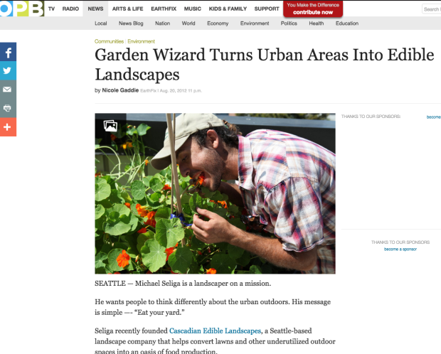 Garden Wizard Turns Urban Areas Into Edible Landscapes . News OPB